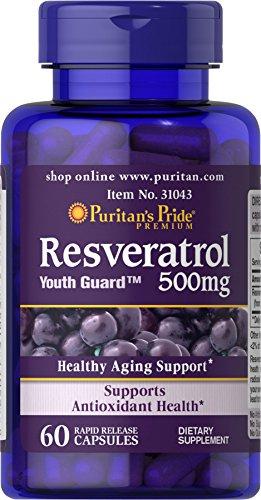 Puritan's Pride Resveratrol 500 mg-60 Capsules