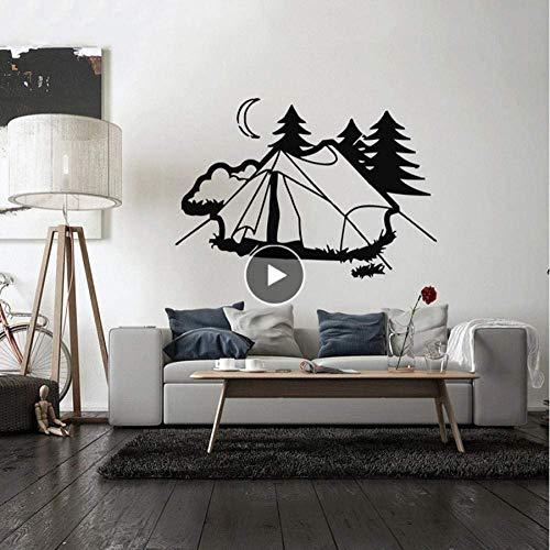 Vvinyl Art muursticker Decal muurschildering kamer ontwerp decor tent camping natuur rust vakantie slaapkamer woonkamer huisdecoratie