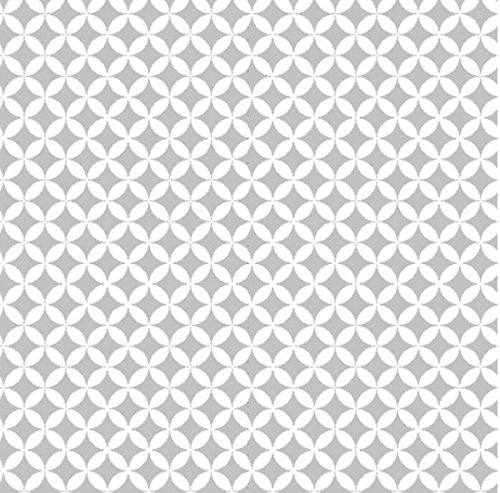 Klebefolie selbstklebende Möbelfolie Elliott silber weiß Dekorfolie 45 cm x 200 cm Selbstklebefolie Retro Motiv Bastelfolie