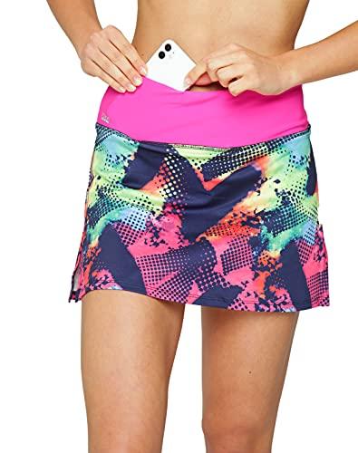 Formbelt - Variosports Skirt Sports Falda Deportiva para Mujer Integrado para Guardar teléfonos móviles de hasta 6,5', Llaves, pañuelos - Running, Yoga, Fitness, Gym, Brazil M