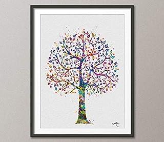 Tree 1 Nature Love - Impresión de acuarela para regalo de boda, decoración de pared, decoración para el hogar, guardería, ...