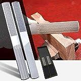 Lima de madera de 4 vías, medio redondo de aguja plana para carpintería de acero al carbono para afilar madera y metal