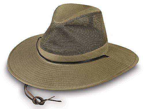 Broner Mens Khaki Solarweave Breezer Hat, Large