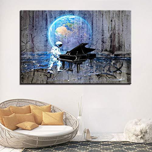 Puzzle 1000 piezas Decoración de la boda pintura imagen piloto espacial pintura moderna para piano en Juguetes y juegos Rompecabezas de juguete de descompresión intelectual educati50x75cm(20x30inch)