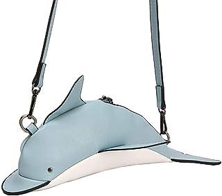 Einzigartiges Design Delfin Schultertasche Damen Mädchen Süße Delfinform PU Leder Handtasche Schulter Messenger Crossbody ...