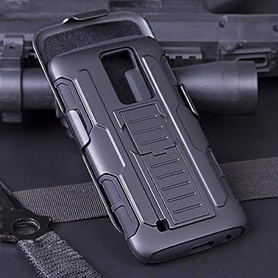 Cocomii Robot Belt Clip Holster LG K10/Premier Case, Slim Thin Matte Kickstand Swivel Belt Clip Holster Reinforced Drop Protection Fashion Bumper Cover Compatible with LG K10/Premier (Black)