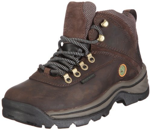 TimberlanD Women's White LeDge MiD Ankle Boot,Dark Brown,8 M US