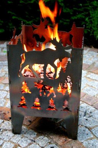SvenskaV Feuersäule Elch aus Stahl
