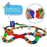 Car Track mit 2 Electric Auto Eisenbahn Autorennbahnen Montage Spielzeug Rennbahn Spiel Set für Kinder,505 CM Länge - 6