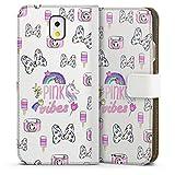 DeinDesign Étui Compatible avec Samsung Galaxy Note 3 Étui Folio Étui magnétique Minnie Mouse...