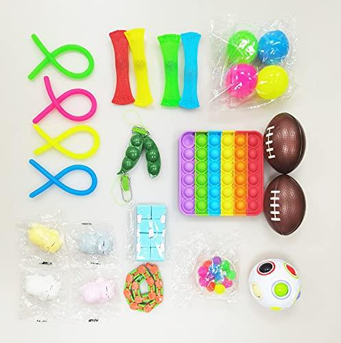 Fidget Toy Packs, 25 Piezas Juguetes Sensoriales, Juguetes Antiestrés Pack, Juguetes Antiestré, Fidget Alivia Estrés y la Ansiedad Toy (A)