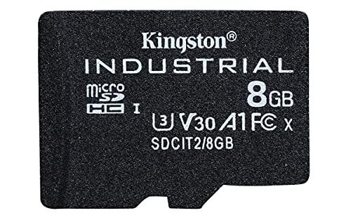 Kingston Industrial microSD - 8GB microSDHC Industrial C10 A1 pSLC Tarjeta en un único paquete sin adaptador - SDCIT2/8GBSP