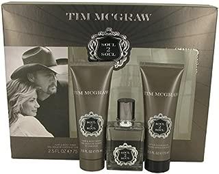 Soul 2 Soul by Faith Hill & Tim Mcgraw Gift Set -- 1 oz Eau De Toilette Spray 2.5 oz After Shave Balm 2.5 oz Shower Gel Men