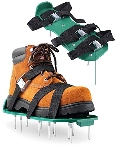 Garden Lawn Aerator Shoes - with 26 spikes to allow your grass to breathe -...