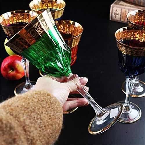 WYN 24 K Oro bicchiere di vino Coppa di Cristallo champagne calice Coppa matrimonio Bar Hotel partito Drinkware accessori decorazione casa, Verde