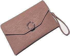 Lisansang Damen Clutch Frauen kleine Clutch Bag Prom Umhängetasche Cross-Body-Taschen mit Armband und verstellbaren Riemen Handtasche Geldbörse, Party, Geburtstagsfeier, Nachtclub (Farbe : Rosa)