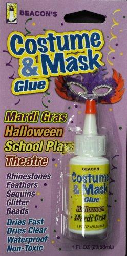 Beacon Adhesive Kostüm- & Maskenkleber 29 ml mittlere Flasche, klartrocknend Handwerk Klebstoff, Andere, transparent, 20x10x5 cm