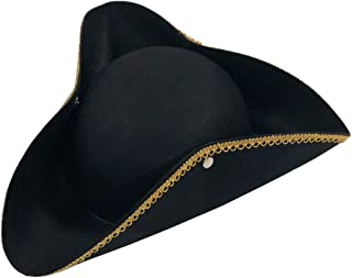 Deluxe Colonial Tricorn Hat Black