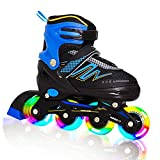 Hiboy Adjustable Inline Skates with All Light up Wheels, Outdoor & Indoor...