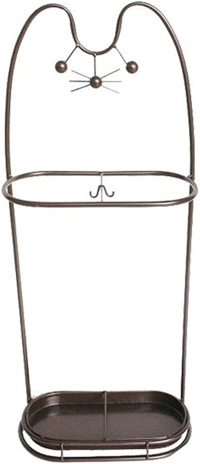 Creative Wrought Iron Umbrella Stand Home Office Hotel Lobby Multi-Function Umbrella Stand 30  15  70CM (color   Brown)