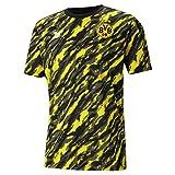 PUMA BVB Iconic MCS Herren Fußball-T-Shirt mit Grafikprint Puma Black-Cyber Yellow M
