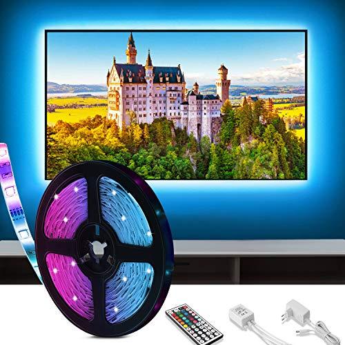 Tiras LED 3M, Tira de LED para fondo de TV, adecuada para televisores y PC de 40-60 pulgadas, Luces LED RGB con Control Remoto, 12V, 5050 luces led habitacion para casa, Muebles