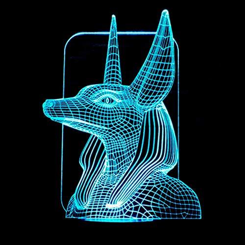 Xc Pharaon Garde 2 Light Touch Table Lampe De Bureau, Tactile 7 Couleurs LED Visuelle Lumière Cadeau Atmosphere Lampe De Table, Cadeau For Les Fans De Cinéma