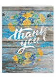 Blooming Driftwood - Beautiful Thank You Card with Envelope (8.5 x 11 Inch) - Painted Wood and Flowers, Appreciation Greeting Card - Gratitude Notecard for Weddings, Mother's Day J6108CTYG-US