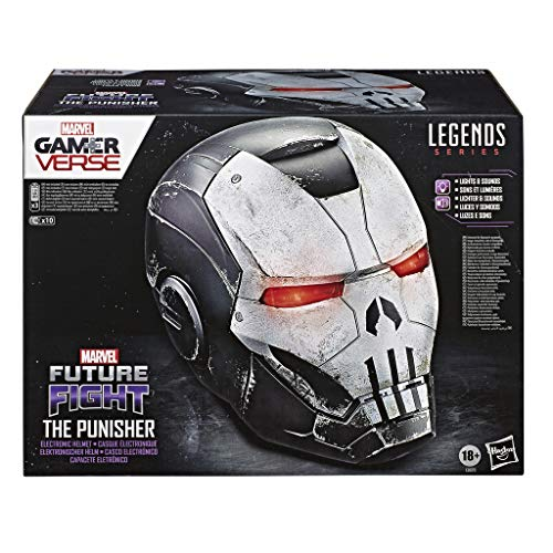 Marvel Hasbro Legends Series Gamerverse The Punisher elektronischer Premium Rollenspiel-Helm mit LED Lichtern
