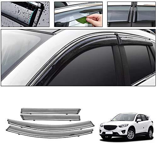 saitake Windabweiser Für Mazda CX-5 2013-2017 4PCS Autofenster Visier Sonne Regen Rauchabzug Schatten Klebeband Außenvisiere
