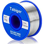 TABIGER 0.6mm Lead Free Solder Wire with Rosin Core for Electrical Soldering and DIY (50g)