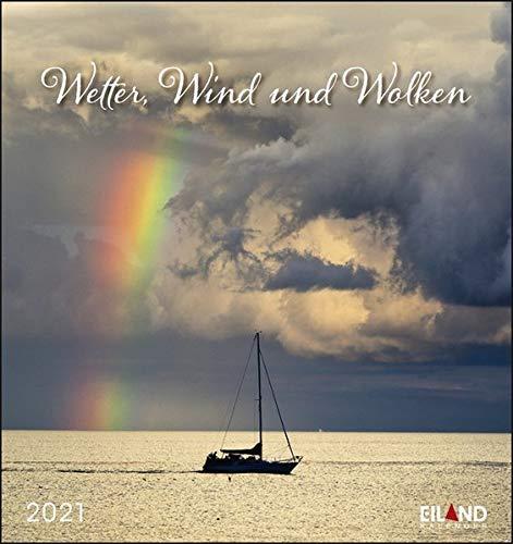 Wetter, Wind und Wolken Postkartenkalender 2021 - Kalender mit perforierten Postkarten - zum Aufstellen und Aufhängen - mit Monatskalendarium - Format 16 x 17 cm