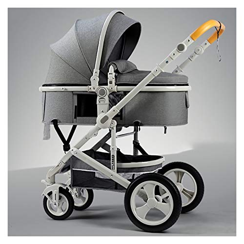 KHUY Strollers Buggy Pushchair - Light Weight Newborn Pram with Strollers Fan, Toddler Pushchair Stroller Upgraded Infant Carriage Prams and Strollers for Babys with Rain Cover (Color : Gray)