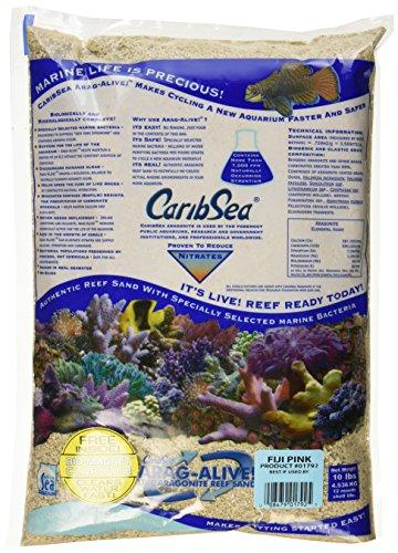 Caribsea Arag-Alive Fiji Aquarium Sand, 10-Pound, Pink