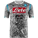 SSC Napoli Tercera camiseta de juego réplica gris fantasía, gris, m