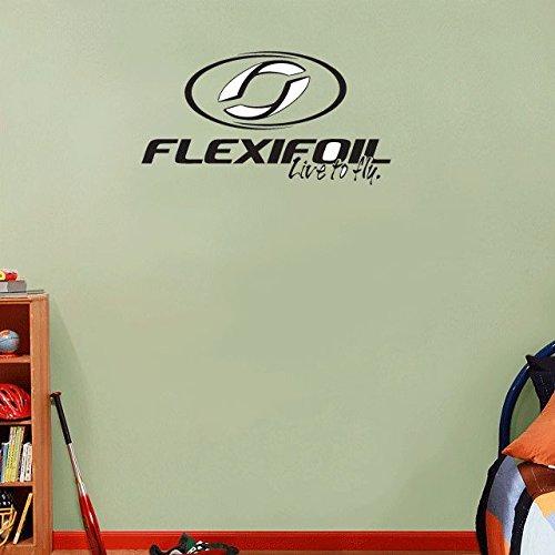 Flexifoil Kites Kiteboarding Sport Black Logo Home Decor Art Wall Vinyl Sticker 63 x 35 cm