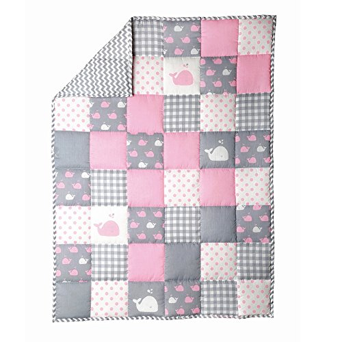 RAJRANG BRINGING RAJASTHAN TO YOU Baby Cotton Blanket - Crib Cute Fish Pattern Cradle Comforter for Newborn Babies Warm and Soft Toddler Quilt - Baby Pink - 38x50 in