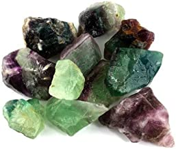 Crystal Allies Materials: 1lb Bulk Rough Fluorite Stones from China - Large 1