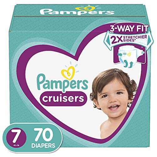 Diapers Size 7, 70 Count - Pampers Cruisers Disposable Baby Diapers, Enormous Pack