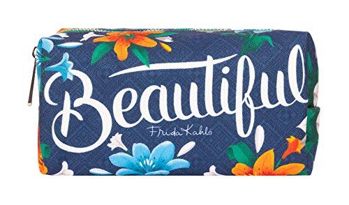Erik® - Astuccio scuola Frida Kahlo Flowers Collection, idee regalo originale, 19,5x10x7,5 cm