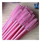 Makeup Brush Makeup Tools 1000pcs/lot make up brush synthetic fiber Disposable Eyelash Brush Pink mascara brush and Rose red brush (Handle Color : Pink mascara brush)