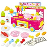 YUEBAOBEI Kinder Campus Snack-Auto-Bus-Spielzeug, Beleuchtung Sound Effects Set, Little Girl Play...