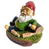 Kariwell Lying Down Drinking Beer Guzzling Garden Gnome Statue - Indoor/Outdoor Funny Lawn Gnome 5.9 inch