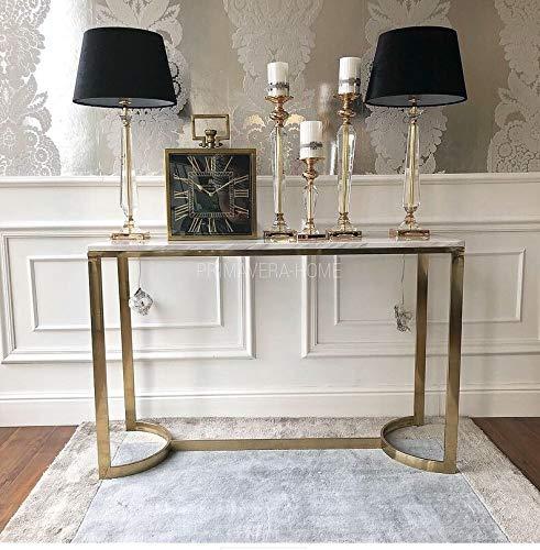 Lámpara de mesa de cristal, lámpara de noche TRINITY L oro blanco