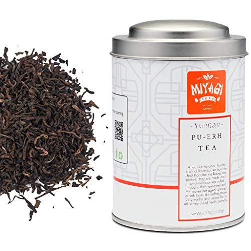 Miyagi Tea - Premium Yunnan Pu Erh Loose Té in foglie - 3.52oz (100g) / barattolo