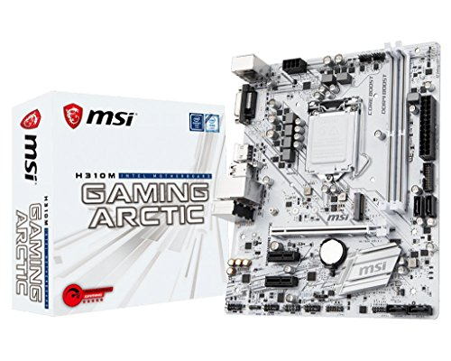 MSI Performance GAMING Intel Coffee Lake H310 LGA 1151 DDR4 Onboard Graphics Micro ATX Motherboard (H310M GAMING ARCTIC)