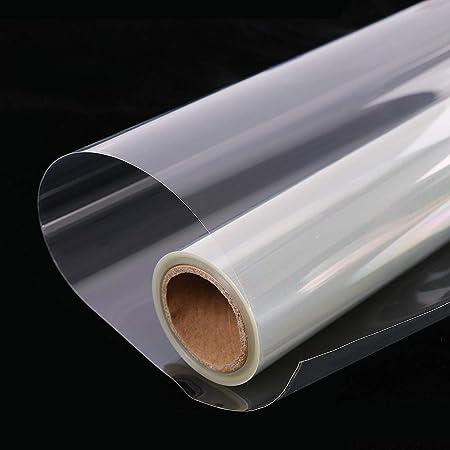 HOHOFILM Film autocollant transparent pour fen/être pour la maison et le bureau Protection de s/écurit/é anti-UV incassable 50 x 300 cm