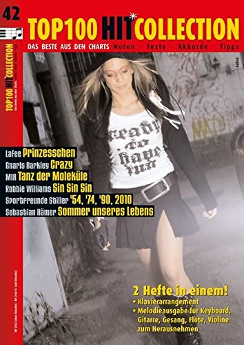 Top 100 Hit Collection 42: 6 Chart-Hits: '54, '74, '90, 2010 - Crazy - Sommer unseres Lebens - Prinzesschen - Tanz der Moleküle - Sin Sin Sin.. Band 42. Klavier / Keyboard. (Music Factory)