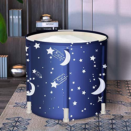 LUCKUP Portable Bathtub, Foldable Free Standing Soaking Bath Tub Easy to Install, Eco-Friendly Bathtub Bathroom Spa,Thickening with Thermal Foam to Keep Temperature,Blue