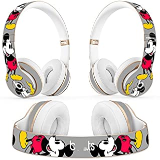 New Ultra-Thin ProtecWrap Cover Sticker Universal Vinyl Decal Skin for Beats Solo 2 3 Wireless Headphone Headset (Smart Mickey)